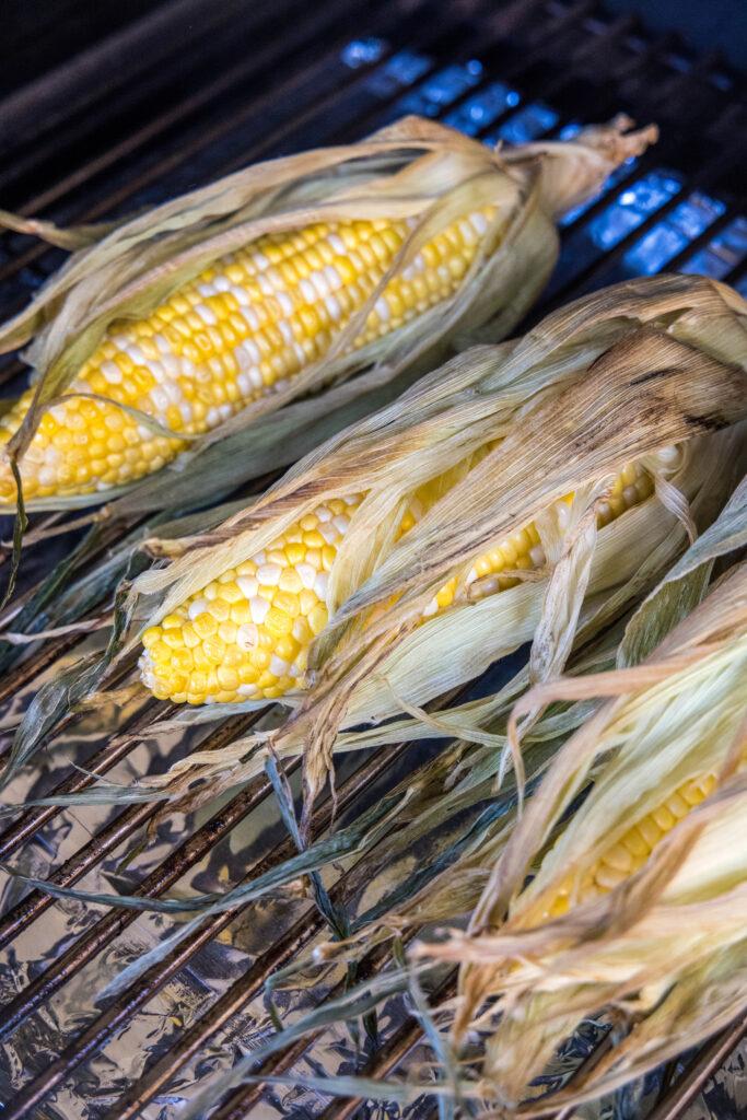 smoked corn on the smoker