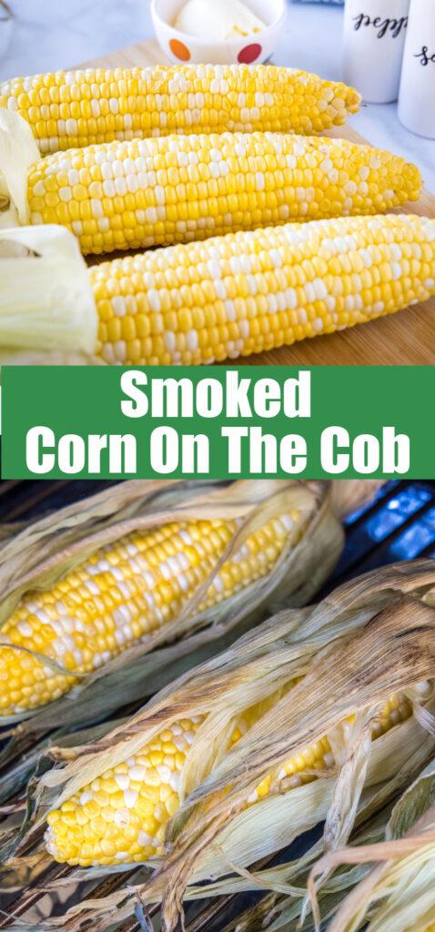 close up of smoking corn on the cob