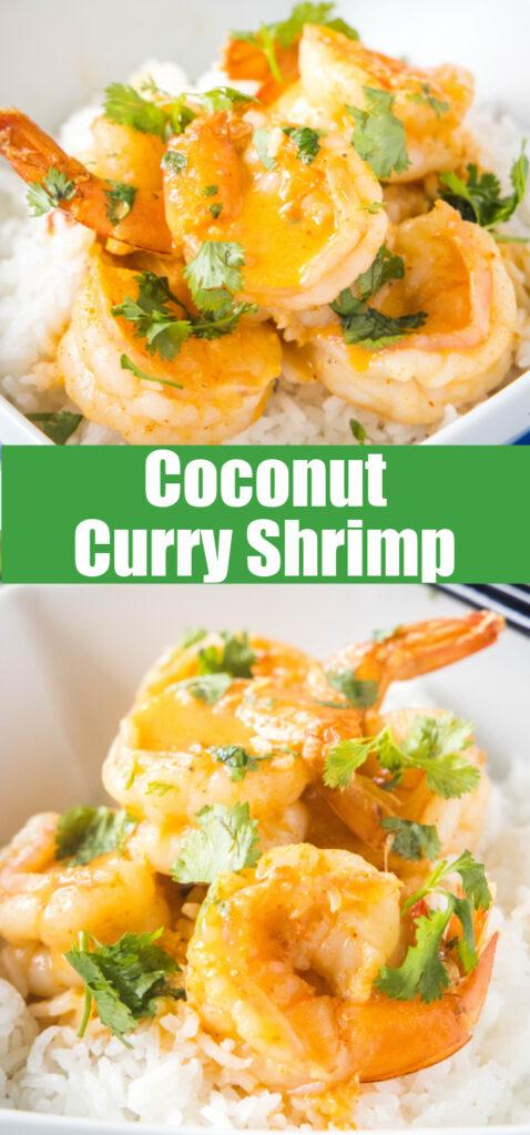 coconut curry shrimp close up