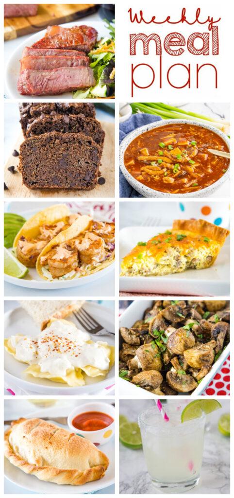 weekly meal plan dinner ideas