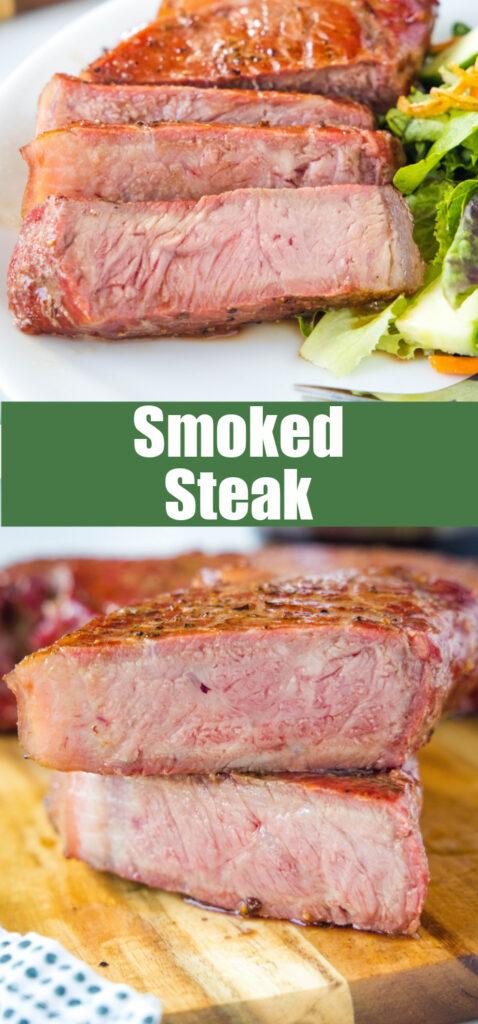 sliced steak close up