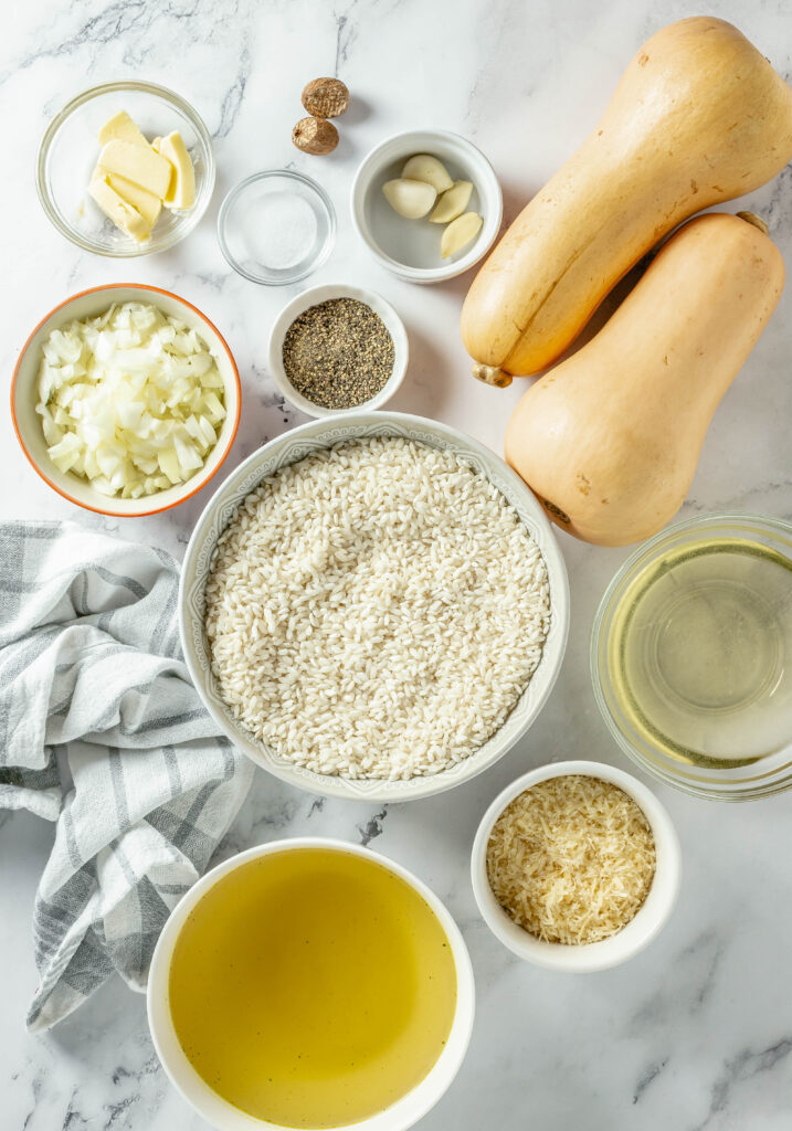 ingredients for squash risotto