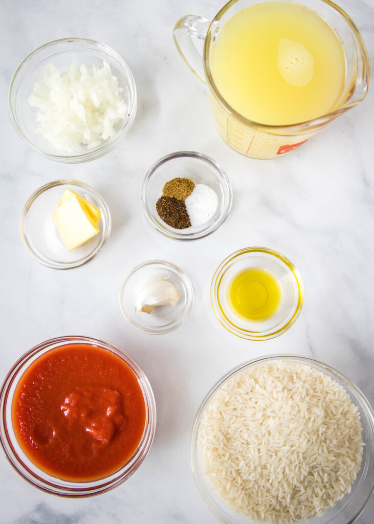 ingredients for mexican rice