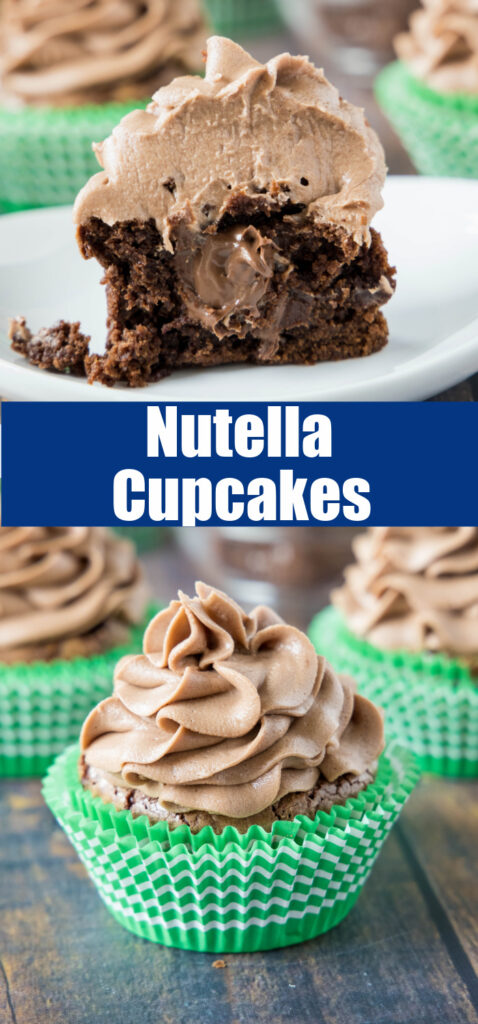 cupcake filled with nutella