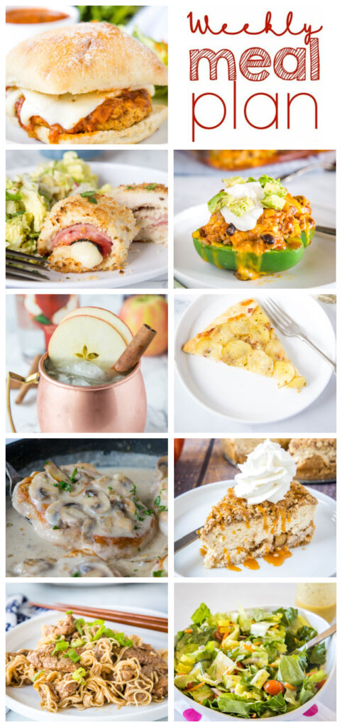 dinner ideas in a collage