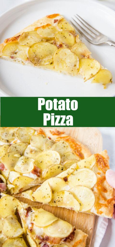 collage of slices of potato pizza