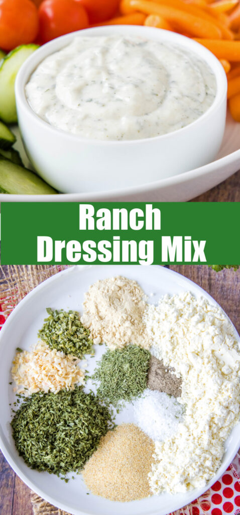 pinterest collage of ranch dressing mix