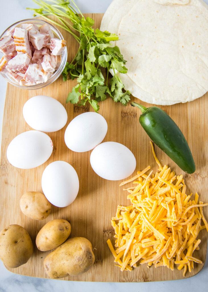 ingredients for breakfast tacos