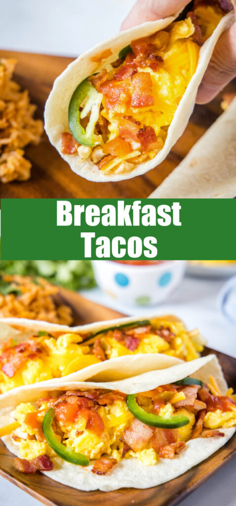 breakfast tacos on a plate close up