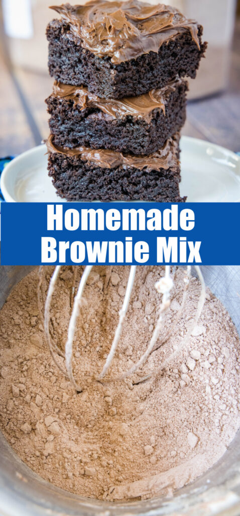 homemade brownie mix collage for pinterest