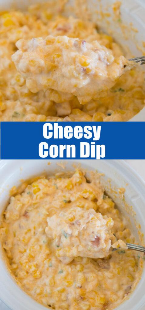 cheesy corn dip in a crock pot